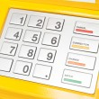 ATM keypad — Stock Photo