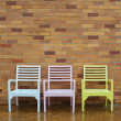 Colorful chairs — Stock Photo #35047653