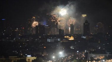 Firework display at Bangkok — Stock Video