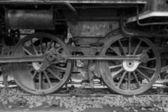Steam locomotive wielen — Stockfoto