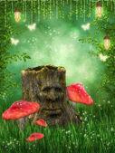 Magic stump — Stock Photo