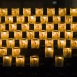 Church candles in Notre Dame de Paris — Stock Photo #21737811