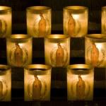 Church candles in Notre Dame de Paris — Stock Photo #21737867