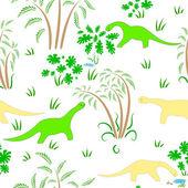 Tekstura z dinozaurami — Wektor stockowy