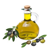Оlive oil and olive branch — Stock Vector