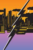 Energy city II — Stock Vector