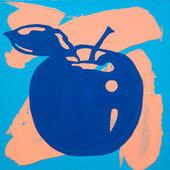 Resmi apple görüntüsünü, pembe ve mavi — Stok fotoğraf