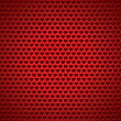 Vector de stock : Love texture, red background, holey surface, vector heart texture