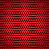 Love texture, red background, holey surface, vector heart texture — Stock Vector