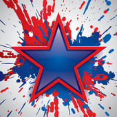 Vector glossy star, paint color explosion on the background, vector art — Vecteur