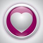 Vector heart, love icon, design element — Stock Vector #38921907