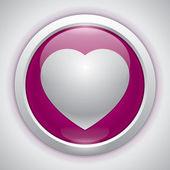 Vektörel kalp, sevgi simgesi, tasarım öğesi — Stok Vektör