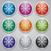 Snowflake, vector design element, new yer, snow balls — Stockvector