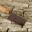 Old rusty cleaver — Stock Photo