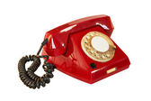 Outdated red phone — Stock Photo