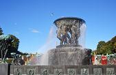 The bronze fountain — Stock Photo