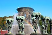 The vigeland's fountain — Stock Photo