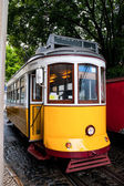 The yellow tram — Stock Photo