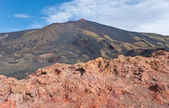 Red rocks of etna — Stock Photo