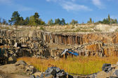 Production of basalt — Stock Photo
