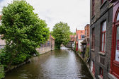 The channel in bruges — Stock Photo