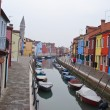 The coloured houses of Burano - Stock Photo