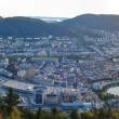 The sunset in Bergen — Stock Photo