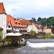 The city on vltava river — Stock Photo