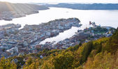 The Bergen from the top — Stock Photo