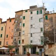 The tilted houses of Sanremo — Stock Photo