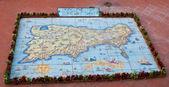 The map of Capri island — Stock Photo