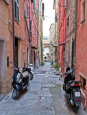 Strada con scooter — Foto Stock