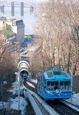 The funicular from the top — Stock Photo