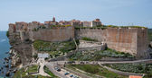 The genoese fortress of Bonifacio — Stock Photo