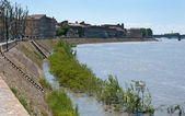 The embankment of Arles — Stock Photo