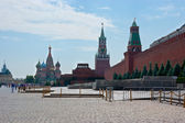 The architectural ensemble of the Red Square — Stock Photo