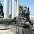 The monument with lion — Stock Photo