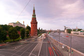 The Moscow embankment — Stock Photo