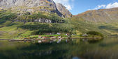 The village on a fjord — Stock Photo