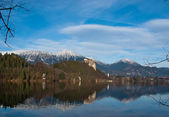Julian Alps from the Bled lake — Stock Photo