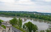 The landmark on the Rhone river — Stock Photo