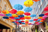 Colorfull umbrellas — Stock Photo