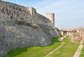 Belgrade's fortress rampart — Stock Photo