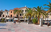 The square with palms — Stock Photo
