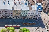 Twee trams — Stockfoto