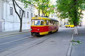 The riding tram — Stockfoto