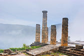 Columns in the fog — Stock Photo