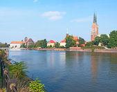 The Oder embankment — Stock Photo