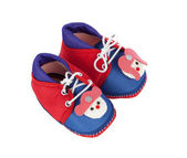 Baby girl's shoes — Stock Photo