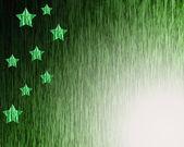 """Background Green """"stars"""" — ストック写真"""